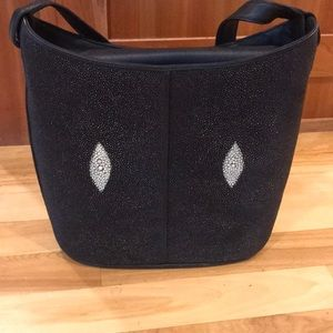 Black stingray purse
